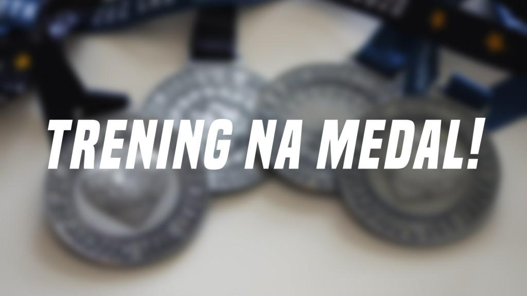 Napis Trening na Medal na tle medali