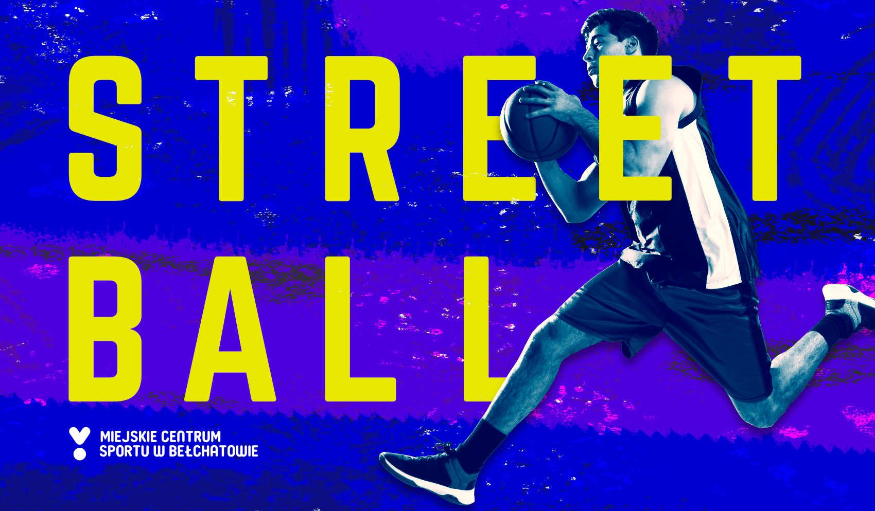 grafika promująca imprezę z koszykarzem STREETBALL